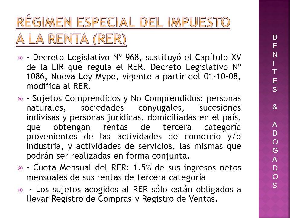 Régimen Especial del Impuesto a La Renta (RER)