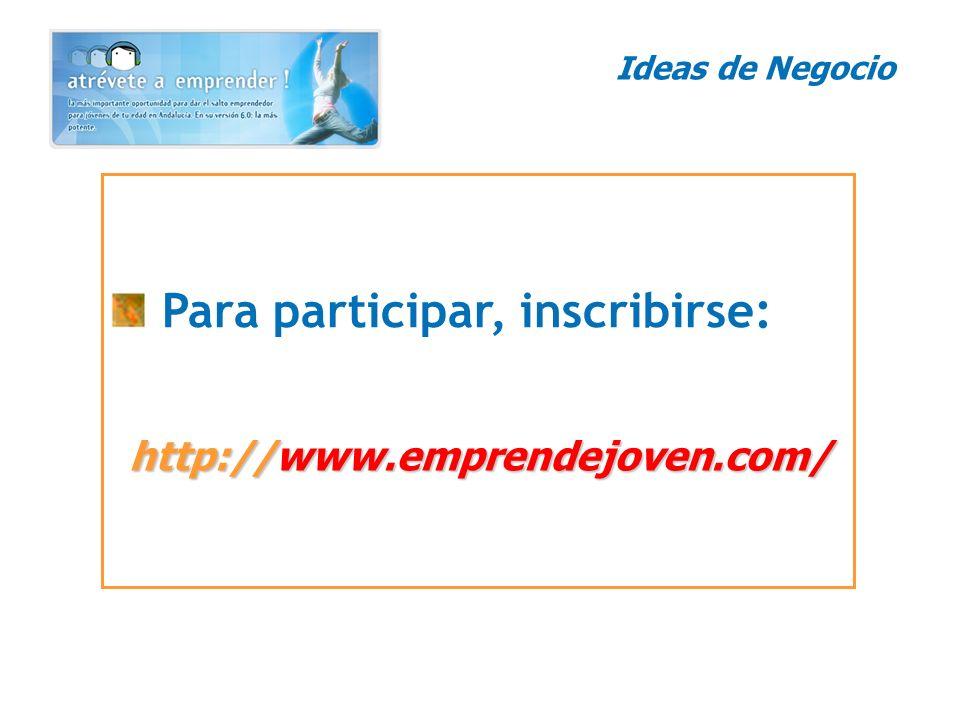 Para participar, inscribirse: