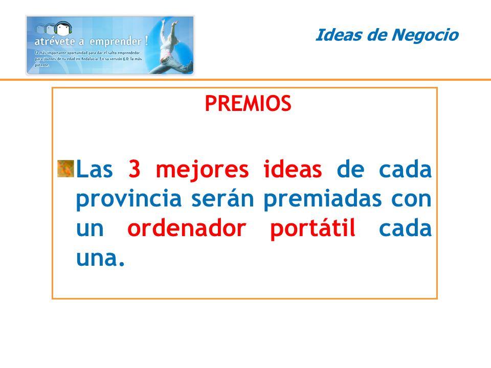 Ideas de Negocio PREMIOS.