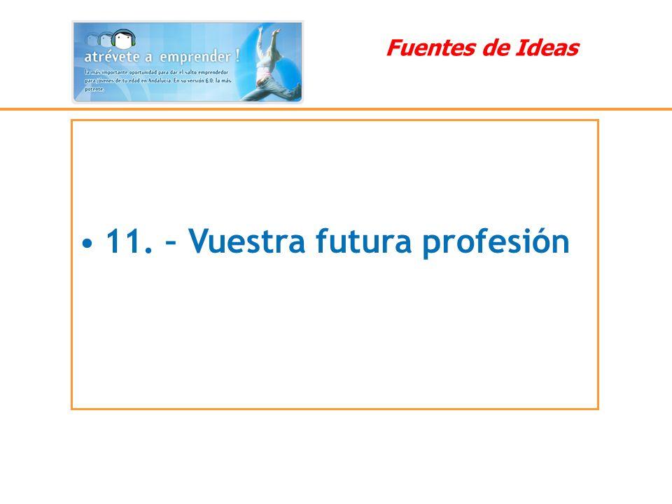 11. – Vuestra futura profesión