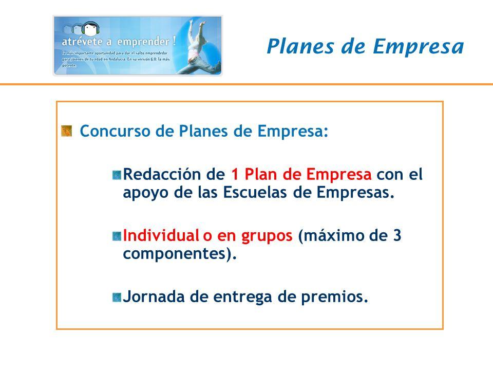 Planes de Empresa Concurso de Planes de Empresa:
