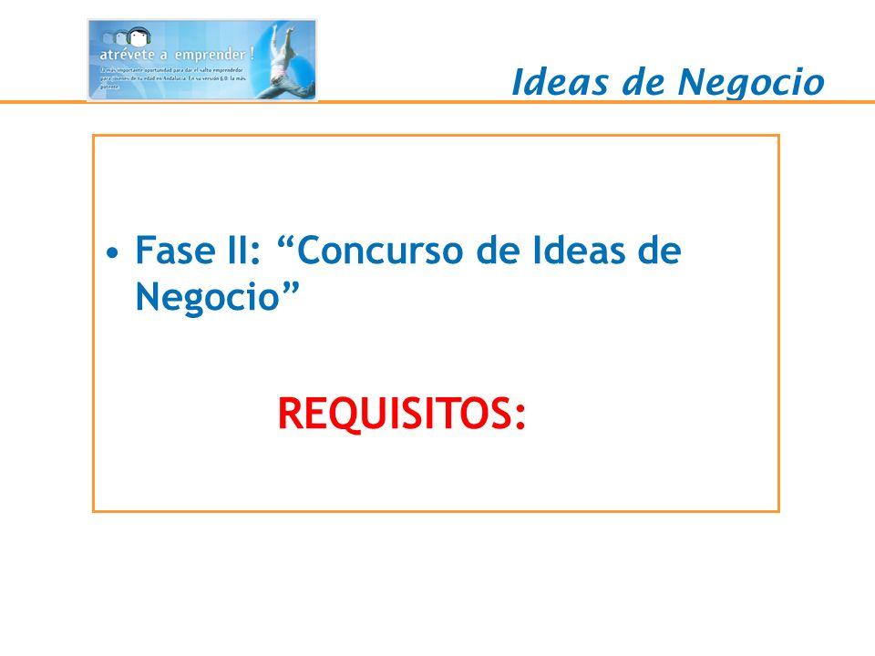 Fase II: Concurso de Ideas de Negocio