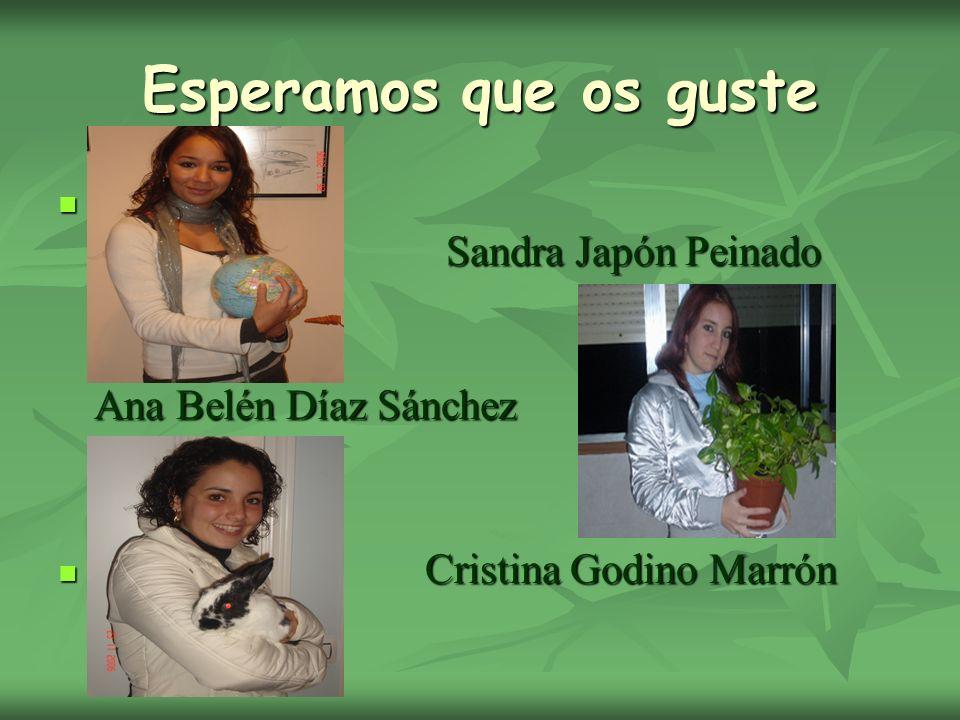 Esperamos que os guste Sandra Japón Peinado Ana Belén Díaz Sánchez