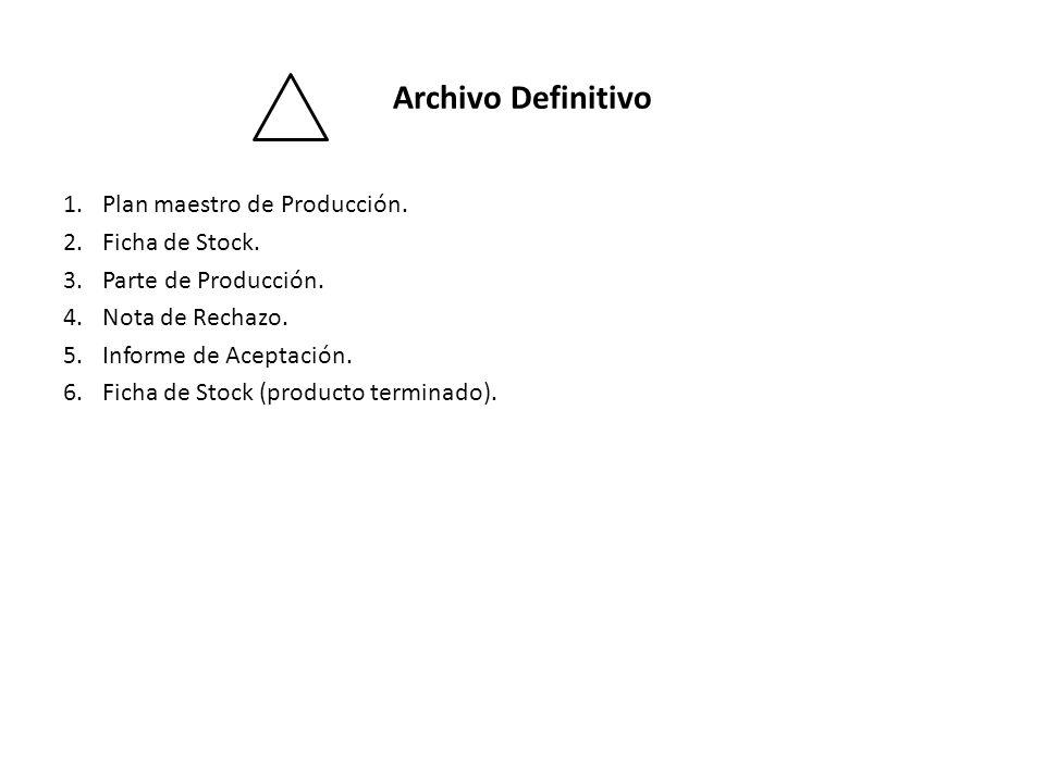 Archivo Definitivo Plan maestro de Producción. Ficha de Stock.