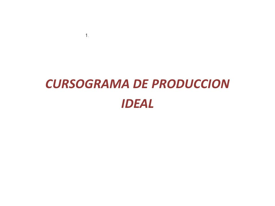 CURSOGRAMA DE PRODUCCION IDEAL