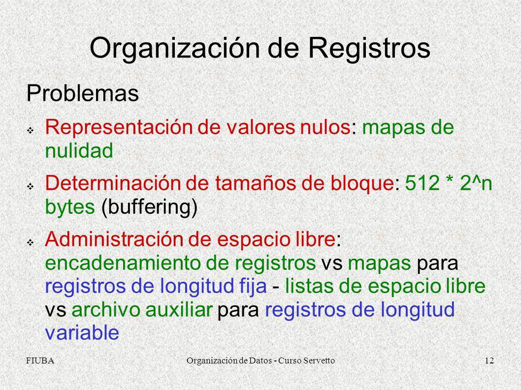 Organización de Registros