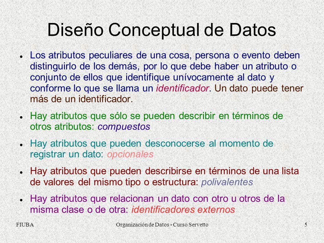 Diseño Conceptual de Datos