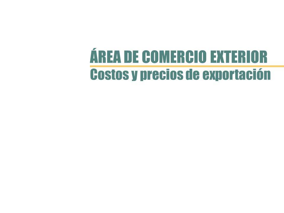 ÁREA DE COMERCIO EXTERIOR