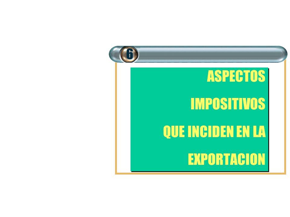 6 ASPECTOS IMPOSITIVOS QUE INCIDEN EN LA EXPORTACION
