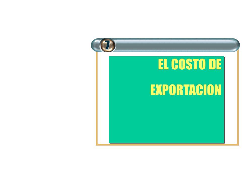 7 EL COSTO DE EXPORTACION