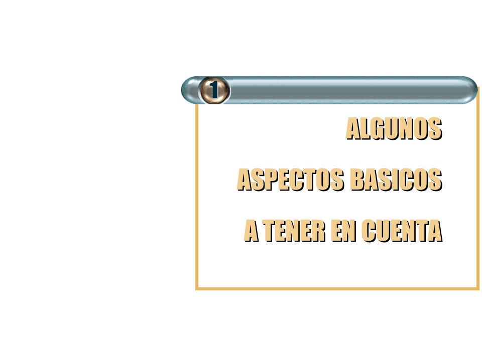1 ALGUNOS ASPECTOS BASICOS A TENER EN CUENTA