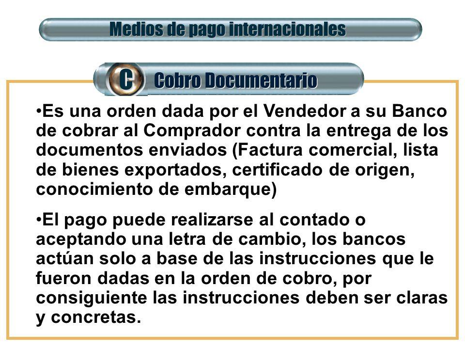 C Cobro Documentario Medios de pago internacionales