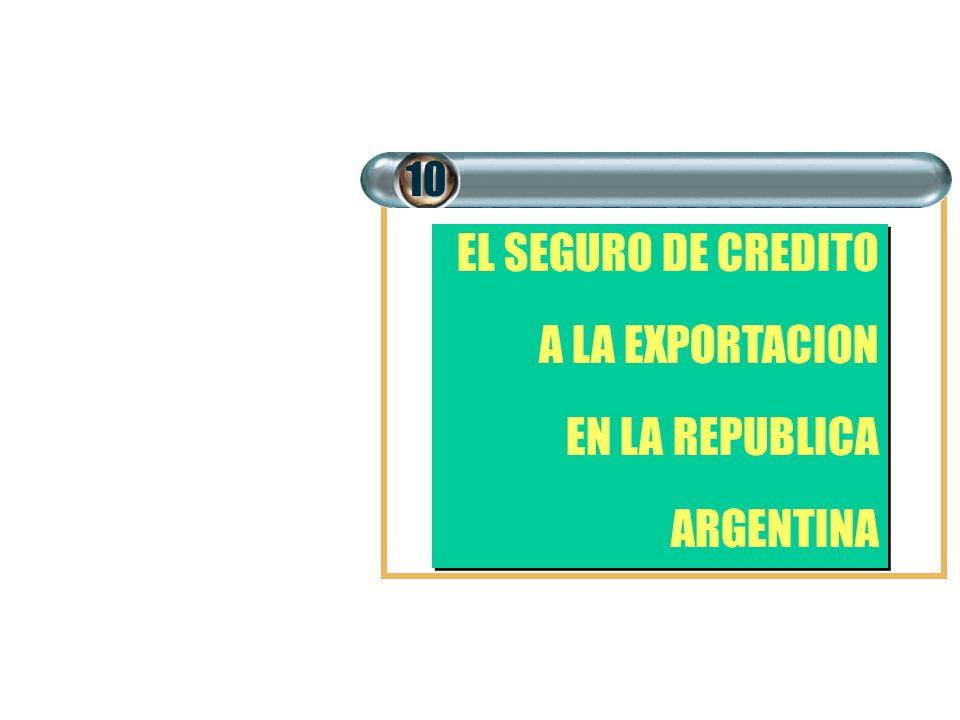 10 EL SEGURO DE CREDITO A LA EXPORTACION EN LA REPUBLICA ARGENTINA