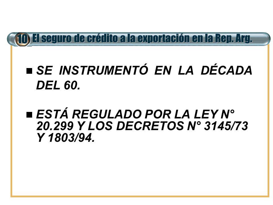 SE INSTRUMENTÓ EN LA DÉCADA DEL 60.