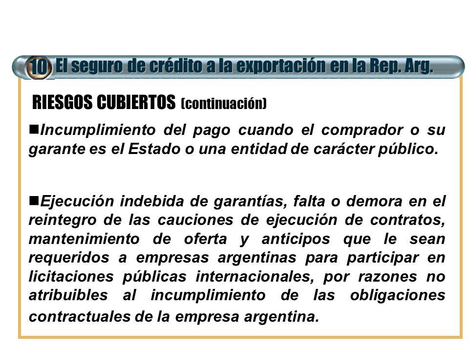 10 El seguro de crédito a la exportación en la Rep. Arg.