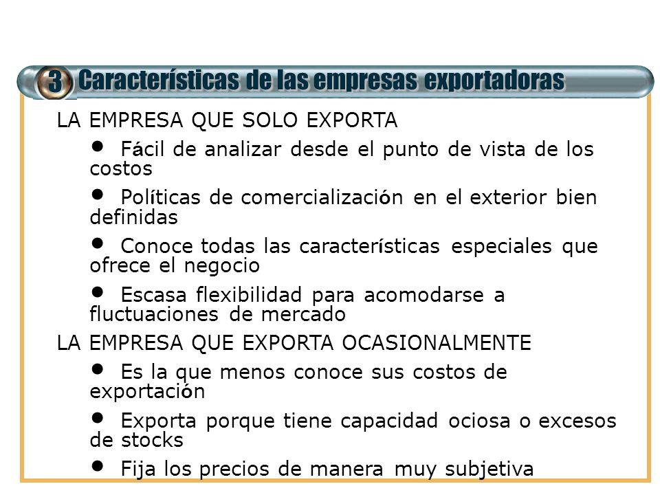 3 Características de las empresas exportadoras