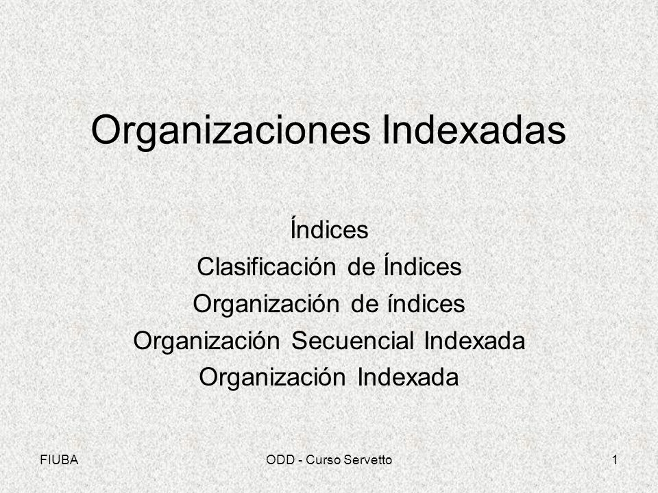 Organizaciones Indexadas
