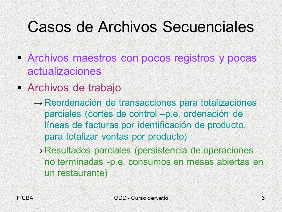 Casos de Archivos Secuenciales