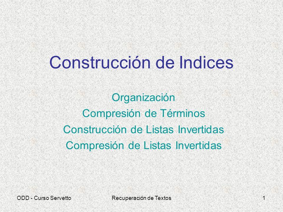 Construcción de Indices
