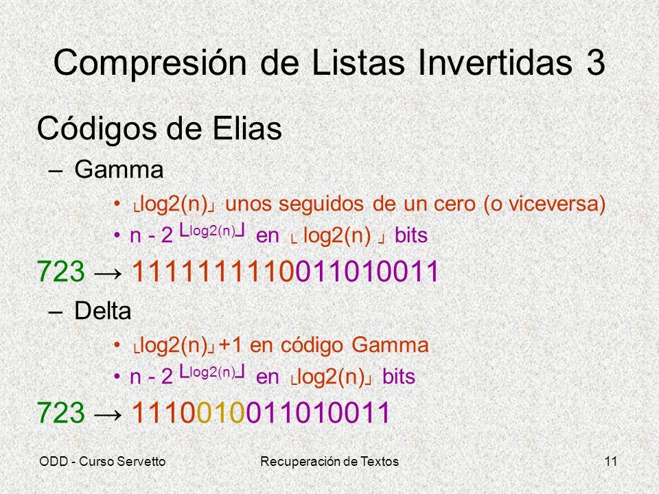 Compresión de Listas Invertidas 3