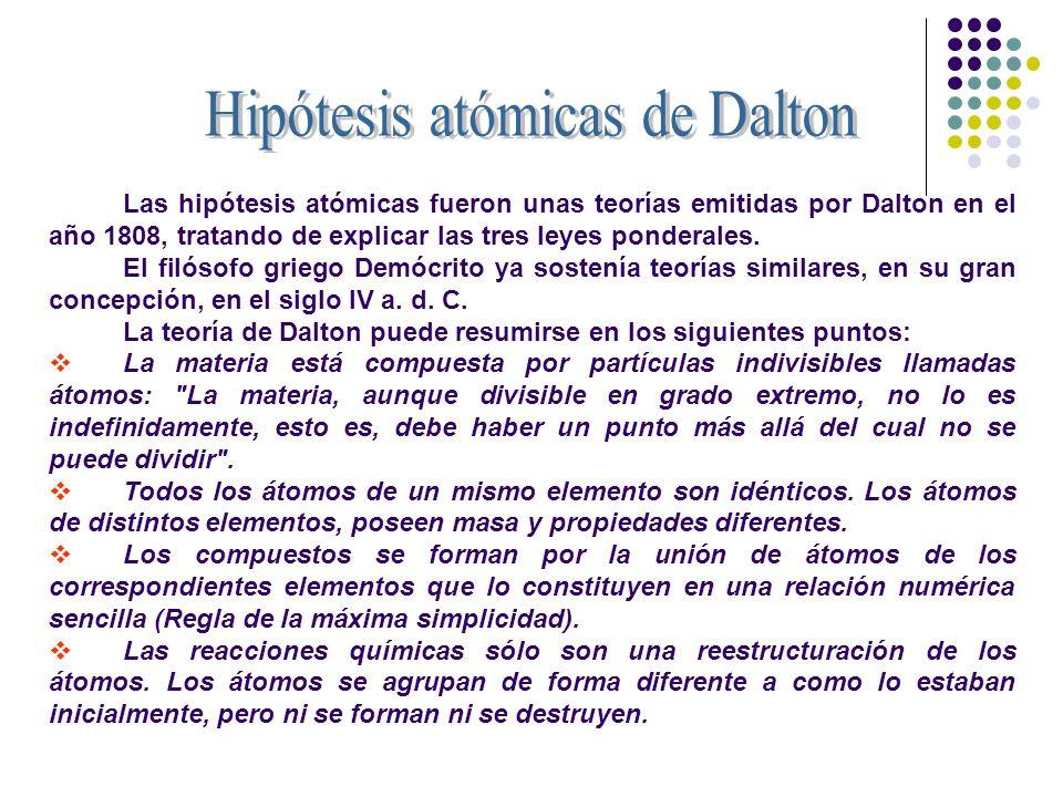 Hipótesis atómicas de Dalton