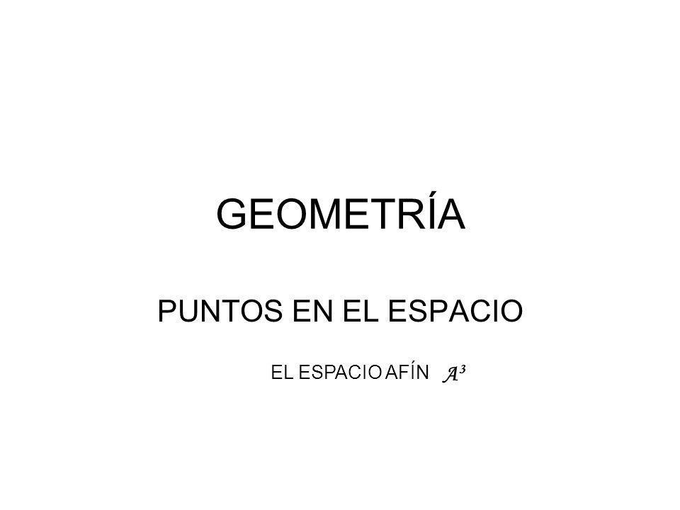 GEOMETRÍA PUNTOS EN EL ESPACIO EL ESPACIO AFÍN A3