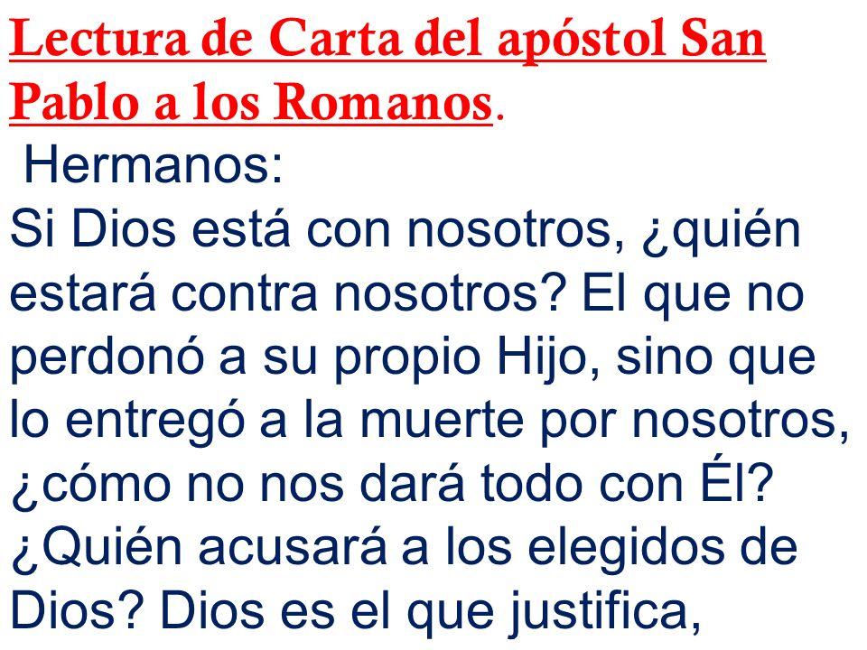 Lectura de Carta del apóstol San Pablo a los Romanos.