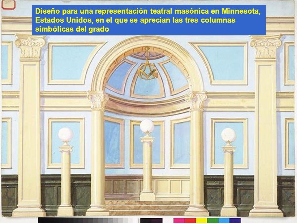 Diseño para una representación teatral masónica en Minnesota,