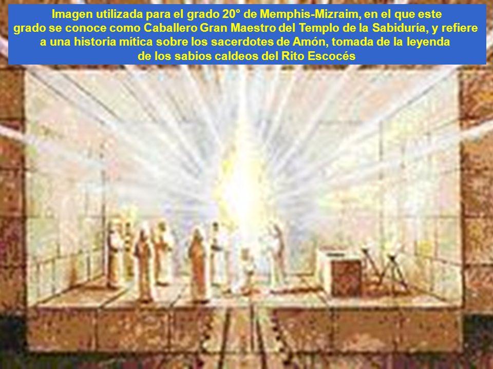 Imagen utilizada para el grado 20° de Memphis-Mizraim, en el que este