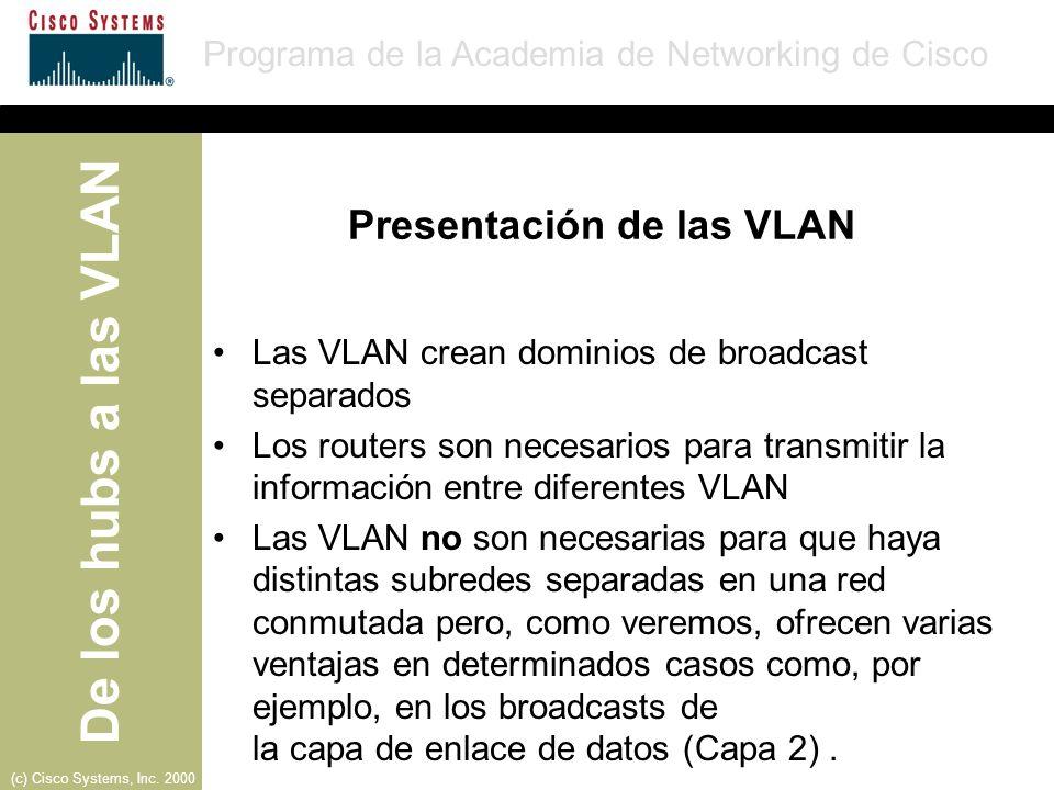 Presentación de las VLAN