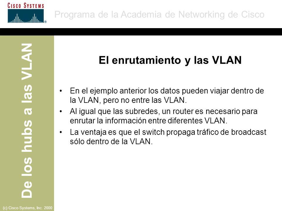 El enrutamiento y las VLAN
