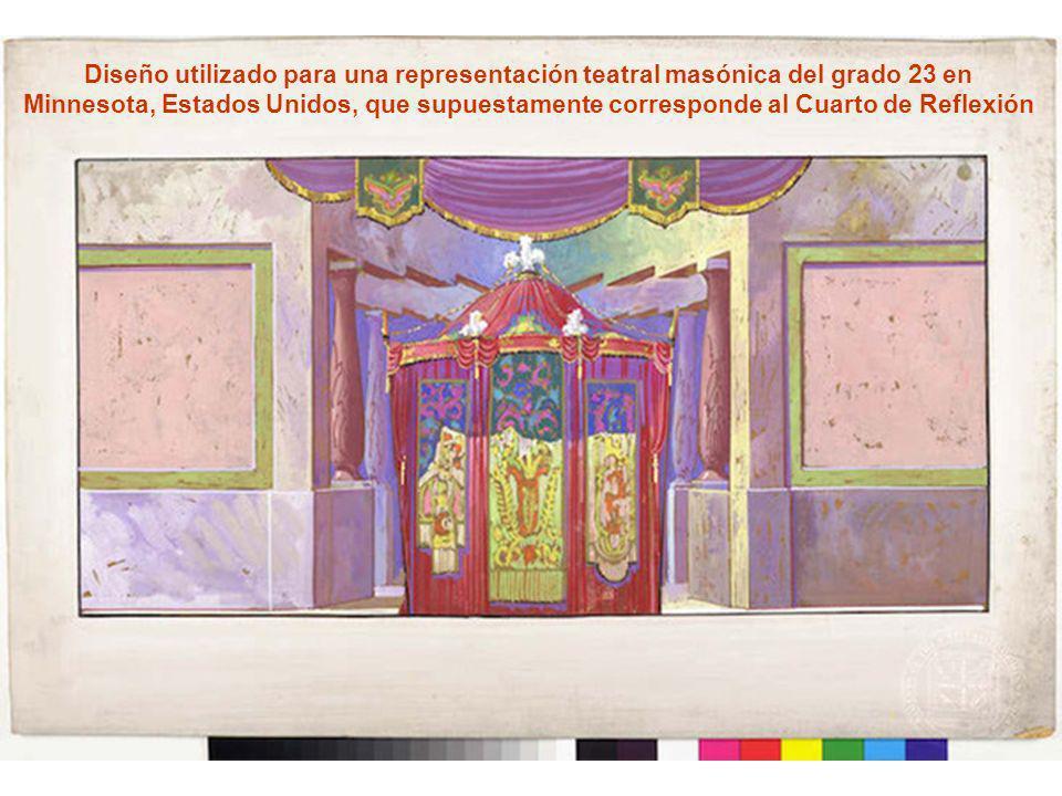 Diseño utilizado para una representación teatral masónica del grado 23 en
