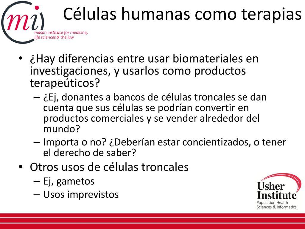 Biomateriales humanos desde el laboratorio a la clínica: Células ...