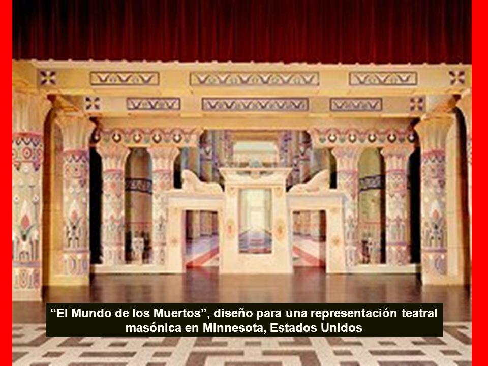 El Mundo de los Muertos , diseño para una representación teatral