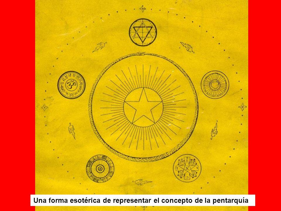Una forma esotérica de representar el concepto de la pentarquía