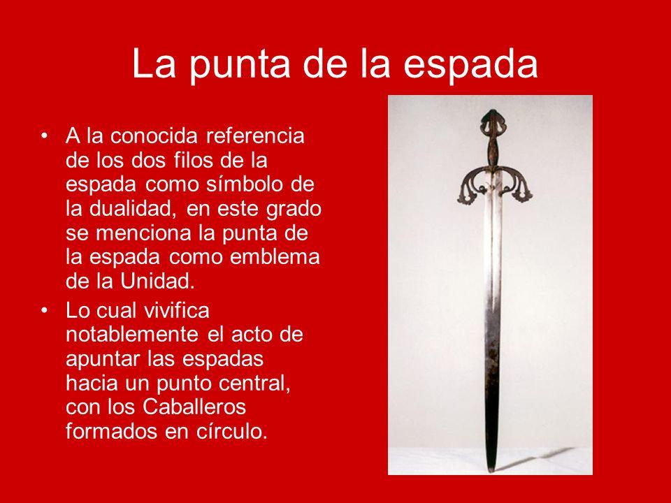 La punta de la espada