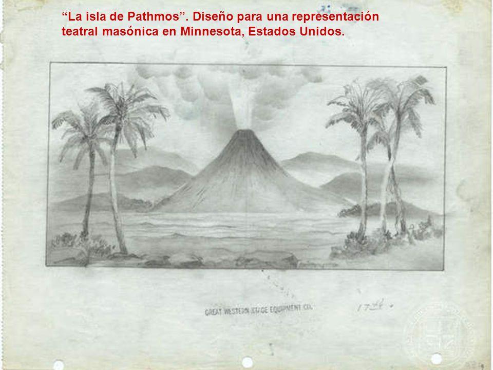 La isla de Pathmos . Diseño para una representación
