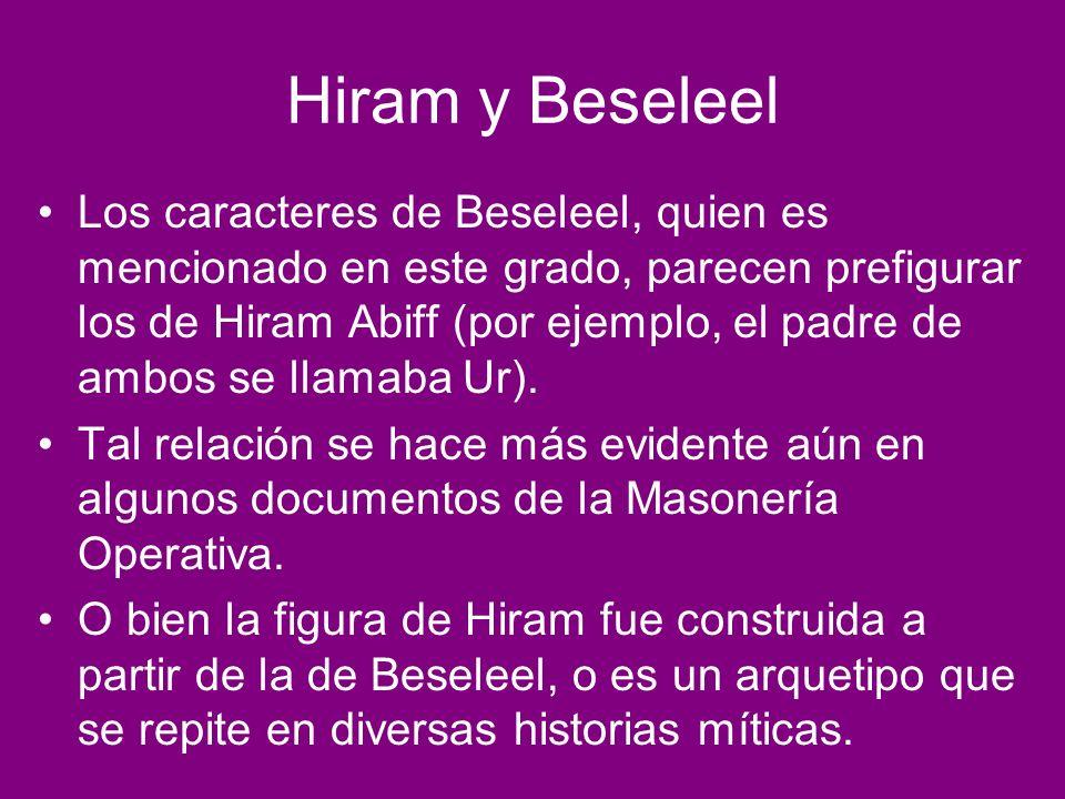 Hiram y Beseleel