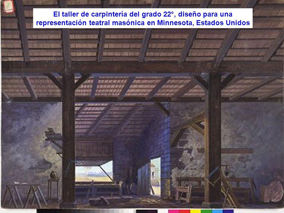 El taller de carpintería del grado 22°, diseño para una