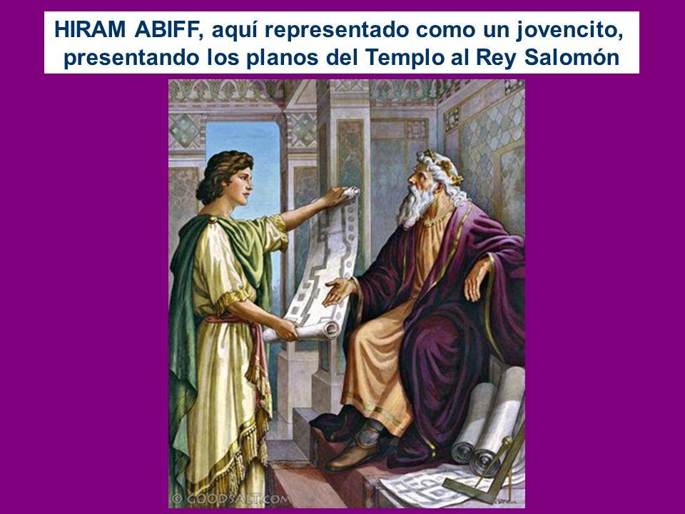 HIRAM ABIFF, aquí representado como un jovencito,