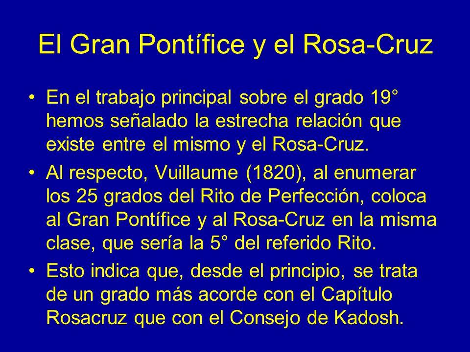 El Gran Pontífice y el Rosa-Cruz