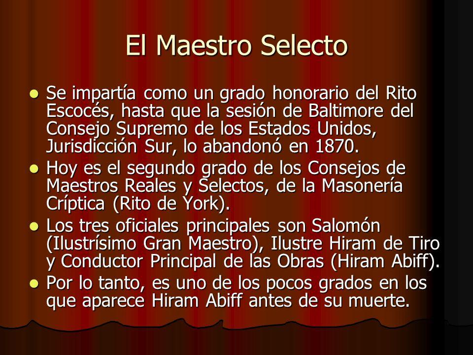 El Maestro Selecto