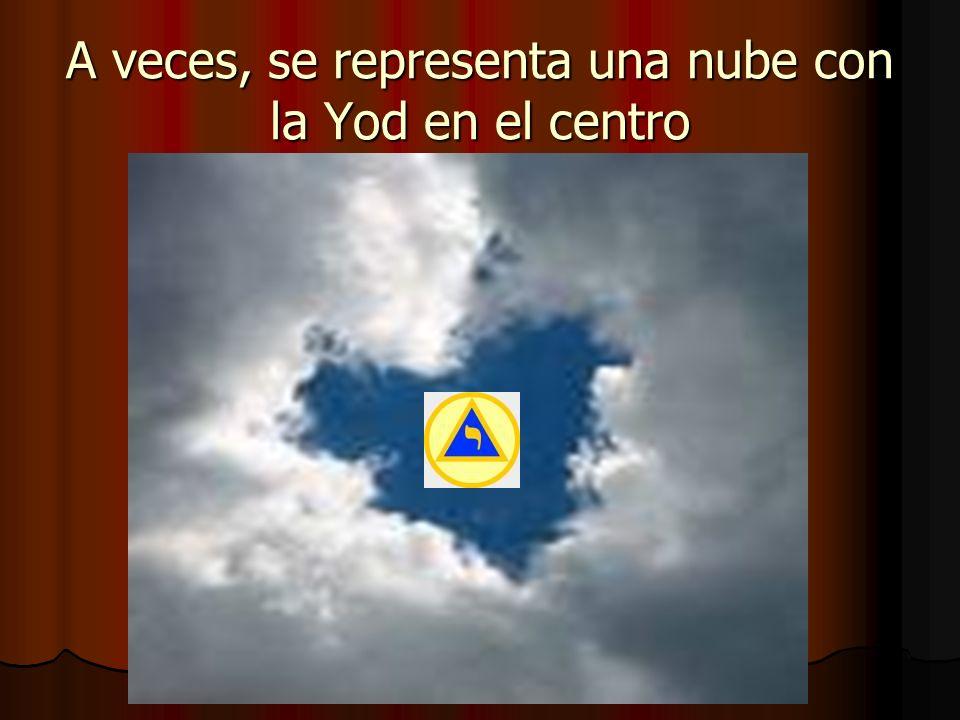 A veces, se representa una nube con la Yod en el centro