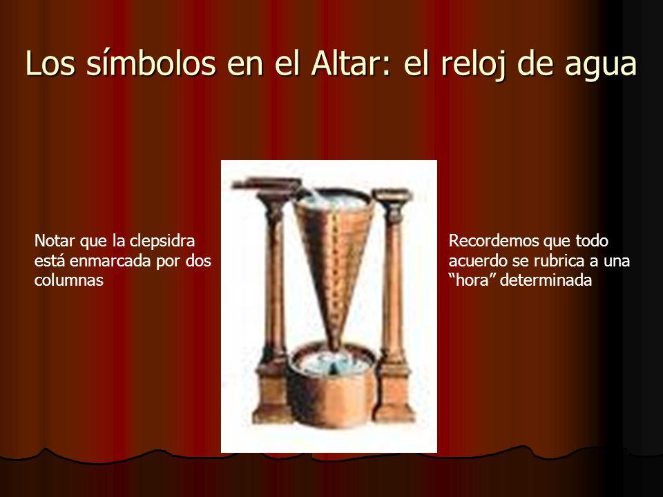 Los símbolos en el Altar: el reloj de agua