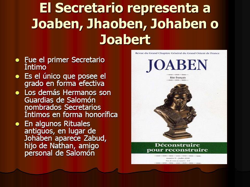 El Secretario representa a Joaben, Jhaoben, Johaben o Joabert