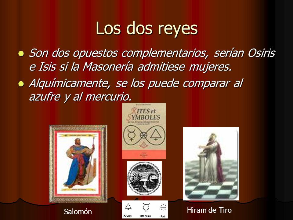 Los dos reyes Son dos opuestos complementarios, serían Osiris e Isis si la Masonería admitiese mujeres.