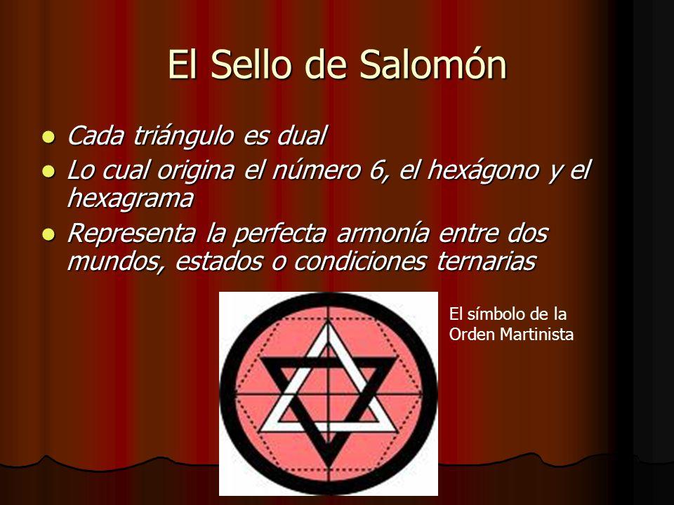 El Sello de Salomón Cada triángulo es dual