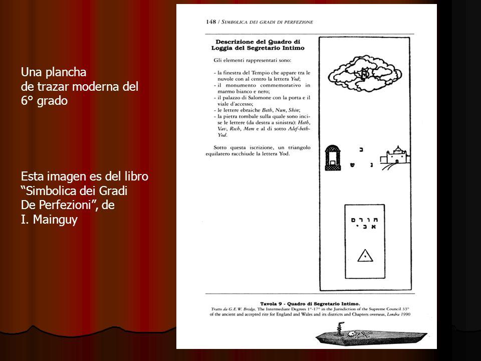 Una planchade trazar moderna del. 6° grado. Esta imagen es del libro. Simbolica dei Gradi. De Perfezioni , de.