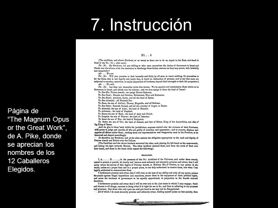 7. Instrucción Página de The Magnum Opus or the Great Work ,