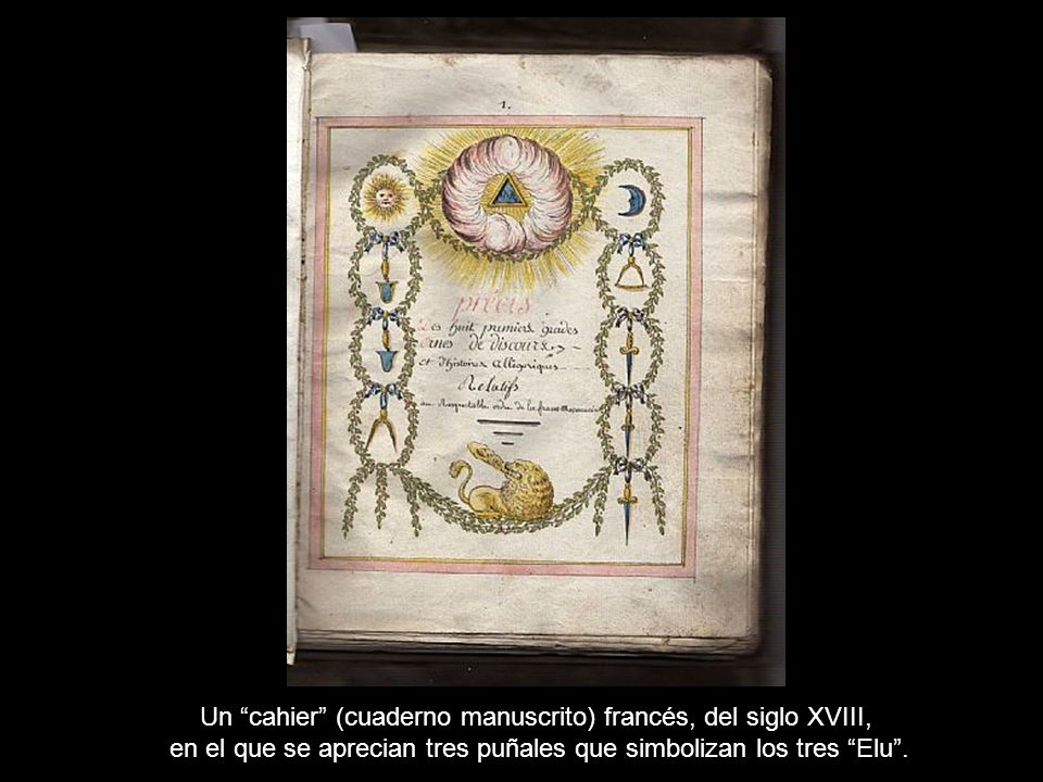 Un cahier (cuaderno manuscrito) francés, del siglo XVIII,